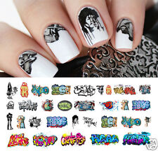 Graffiti Nail Art Waterslide Decals #3 - Salon Quality!