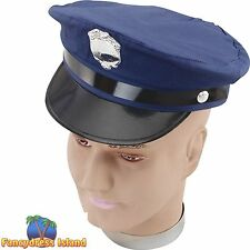 NEW YORK POLICE HAT COPS & ROBBERS - mens womens fancy dress costume accessory