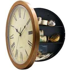Wall Clock Hidden Safe Secret Jewelry Security Money Compartment Stash Box New