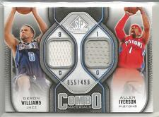 2009-10 SP Game Used Basketball Williams-Iverson Dual Jersey Card # 55/499