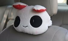 2pcs Cute Plush Cartoon Bunny Auto Car Neck Rest Cushion Headrest Pillow Mat