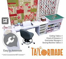 Sewing Machine Cabinet Desk Cutting Table Furniture - Janome Singer Brother Elna