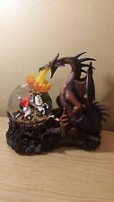 Dragon Maleficent vs Prince Phillip Disney Musical Snowglobe Sleeping Beauty