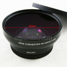 PIXCO 62 62mm 0.45x Wide Angle Camera Lens Converter + Macro Lens for 82mm front