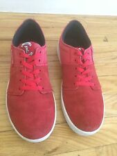Supra Terry Kennedy Red Suede White Sole Sneakers Skater Shoes Sz 9.5