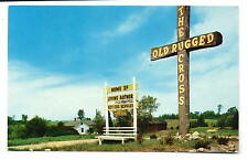 Reed City MI Home Of The Author of The Old Rugged Cross Postcard 1954