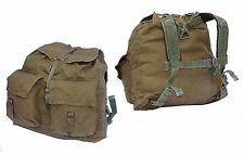Genuine Army Surplus Backpack Khaki Canvas Rucksack Harness Hiking Retro Vintage
