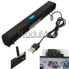 USB Multimedia Speaker for Computer Desktop PC Laptop Notebook Tablet Black MO