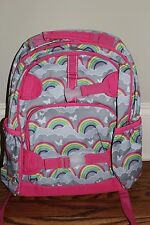 New Pottery Barn Kids Large Mackenzie backpack gray rainbow *small issue*