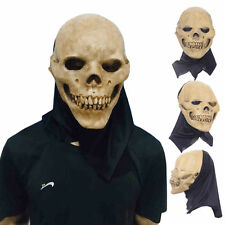 Halloween Cosplay Scary Skull Mask Skeleton Azrael Costume Theater Prop Novelty