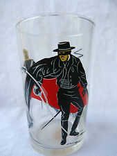 Verre publicitaire (glass) Walt Disney Production - Zorro se battant à l'épée