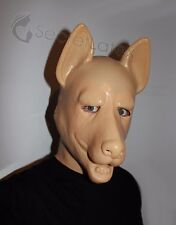 LATEX RUBBER FLESH GUMMI FETISH DOG FULL HEAD HOOD PUPPY GERMAN SHEPHERD MASK
