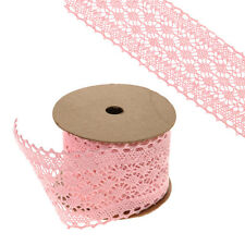 Lace Ribbon Pink 6cm Wide on a 5m Roll