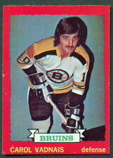 1973-74 OPC O PEE CHEE 58 CAROL VADNAIS EX-NM BOSTON BRUINS HOCKEY CARD