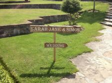 Hand Painted, Personalised, Reclaimed Wood Rustic Wedding Direction Arrow Sign