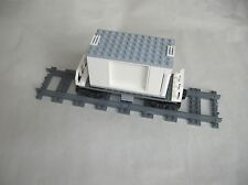 Lego CITY TRAIN: FLATBED RAILCAR & REFRIGERATION CONTAINER w/ DOORS...VG
