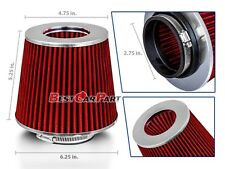 "RED 2.75"" 70mm Inlet Cold Air Intake Cone Replacement Quality Dry Air Filter"