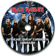135 IRON MAIDEN ROCK METAL GITARRE ETIKETTEN TABLATURE LIED BUCH BIBLIOTHEK