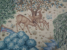 William Morris Curtain Fabric 'The Brook' 1.5 METRES Tapestry Linen  - Linen