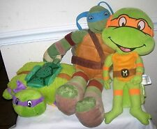 "Teenage Mutant Ninja Turtles PLUSH LOT 3, Dream Lites DONATELLO, 24"" LEONARDO"