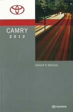 2012 Toyota Camry Owners Manual User Guide