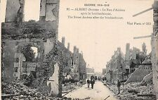 POSTCARD    MILITARY    WWI  ALBERT  Amiens  St  after the bombing