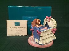 "WDCC Lady and The Tramp - Lady and Cradle ""Welcome Little Darling"" New in Box"