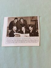 m5-1 ephemera 1943 ww2 picture yehudi menhuin with u s army officers