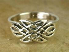 COOL STERLING SILVER FILIGREE CELTIC KNOT RING size 7  style# r0071