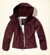 NEW Hollister Burgundy Women's All-Weather Fleece Lined Jacket NEW Size M