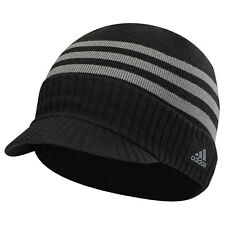 Adidas Golf 2017 Mens climawarm Visor Beanie Winter Hat - Black - One Size