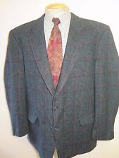 "Genuine Harris Tweed men's green check blazer Jacket 44"" R Euro 54"