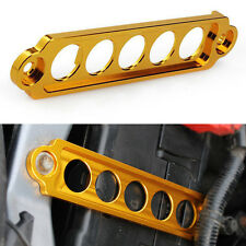 Gold Car Battery Tie Down Fasten Bracket Holder Brace Bar Auto Accessories Cover