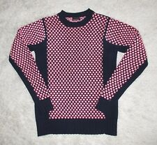 J CREW COLLECTION NAVY PINK DOT CASHMERE SWEATER