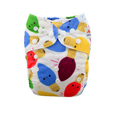 AlvaBaby Christmas Gift Adjustable Reusable Washable Cloth Diaper Nappy+1Insert