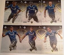 2016-17 TOPPS PREMIER GOLD SOCCER CHELSEA TEAM SET 6 CARDS