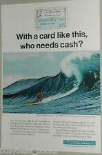 1966 American Express Company advertisement, AM EX Credit Card, Surfing Hawaii
