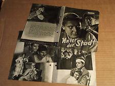 UNTER DER STADT (HERSKO) - PROGRESS FILMILLUSTRIERTE - FILMPROGRAMM
