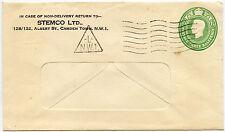 Gb papeterie publicité triangulaires imprimés machine NW1 Stemco ltd KG6