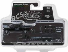 GREENLIGHT GAS MONKEY 2016 DODGE RAM 2500 MOPAR AND FLAT BED TRAILER 1/64 32080A