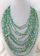 12 Strand Czech Glass Bead Stone Chip Necklace Magnetic Fashion Jewelry NEW