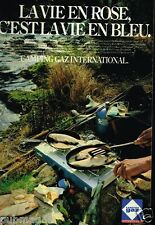 Publicité advertising 1981 Camping Gaz International