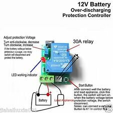 12V 30A Car Battery Excessive Discharge Anti-Over Discharge Protection Module