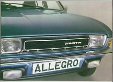 BRITISH LEYLAND AUSTIN MORRIS ALLEGRO SALES BROCHURE JULY 1978