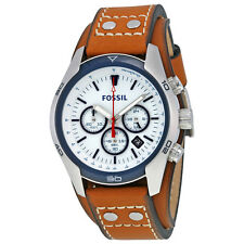 Fossil Coachman Chronograph Dial Tan Leather Mens Watch CH2986