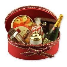 Reutter Porzellan Geschenkbox gefüllt / Champagne Gift Basket Puppenstube 1:12