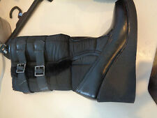 American Eagle Quilted Fabric Black Knee High Boots w/2 Straps Hardly Worn 8M