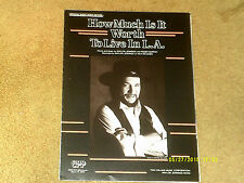 Waylon Jennings sheet music How Much Is It Worth to Live in L.A. '88 3 pp. (NM)