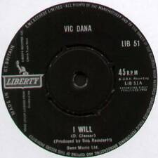 "[BARRY MANN] VIC DANA ~ I WILL / PROUD ~ 1962 UK 7"" SINGLE ~ LIBERTY LIB 51"