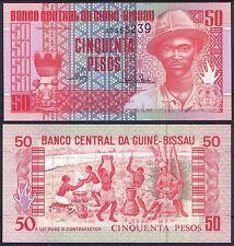 GUINEA BISSAU 50 Pesos 1990  Pick 10   SC / UNC